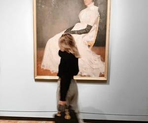 art, girl, and bag image