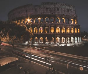 italy, colosseum, and night image