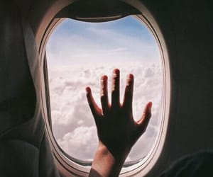airplane, indie, and travel image