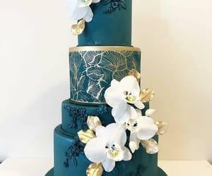 blue, sweet, and cake image