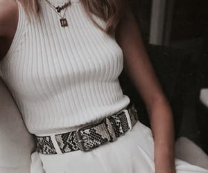 belt, girl, and style image