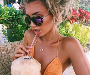 babe, coconut, and girl image