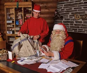 christmas, letters, and lapland image