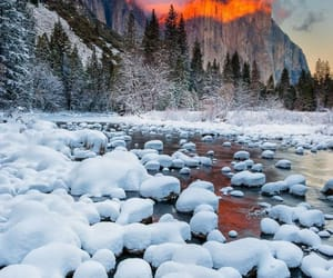 mountains and winter image