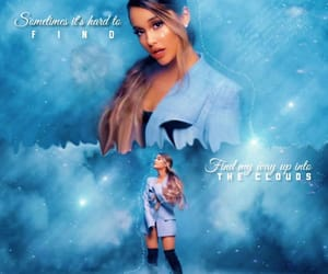 blue, edits, and thankunext image