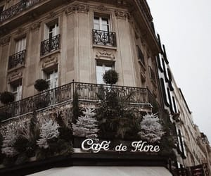 cafe, architecture, and paris image