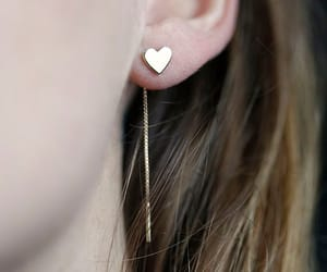accessories, heart, and earing image