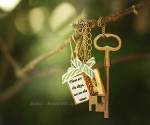 key, photography, and gold image