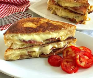 bacon, cheese, and delicious image