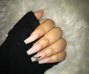 coffin, cute nails, and ombre nails image