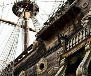 ship, pirate, and sea image