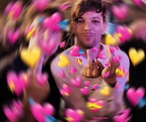 funny, louis tomlinson, and heart meme image