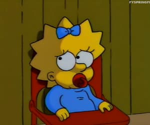 Maggie and simpsons image