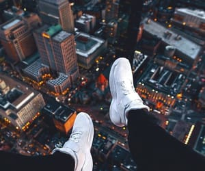 city, shoes, and wallpaper image