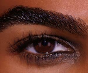eye, eyebrows, and brown image