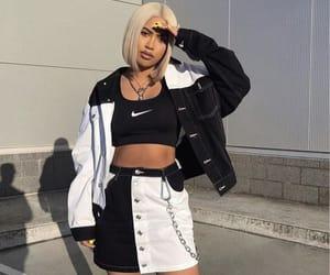 black, nike, and style image