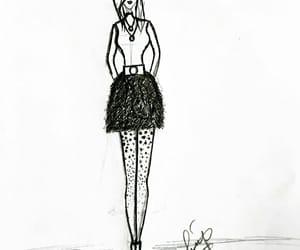 art, girl, and blackandwhite image