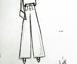 drawing, fashion, and outfit image