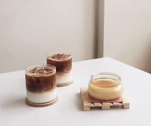 creme brulee, dessert, and drinks image