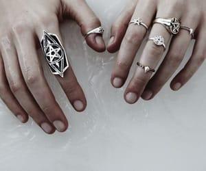 pentagram, rings, and aneis image