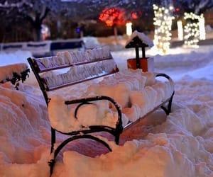 bench, lights, and magic image