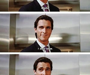 american psycho, movie, and christian bale image