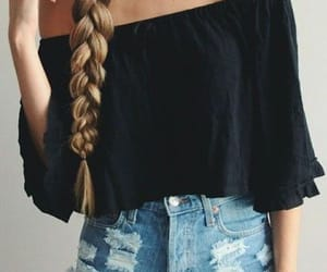braid, hair, and obsessed image
