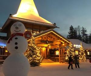 christmas, lights, and rovaniemi image