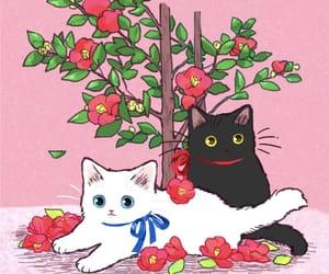 art, cat, and japan image