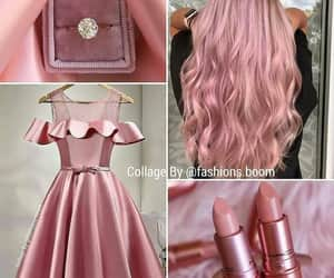 dress, rings, and lipstick image