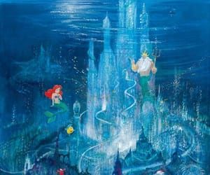 disney and little mermaid image