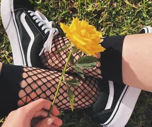 vans, flowers, and tumblr image