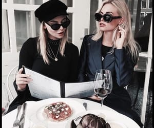 best friends, drinks, and food image