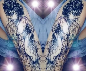 abstract art, ink, and tattoo love image