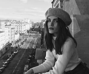 girl, balcony, and beret image
