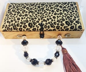 altered art, evening bag, and cheetah print image