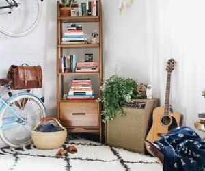 bedroom, black, and mid century modern image