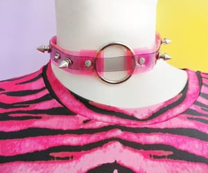 etsy, pink black, and bdsm collar image
