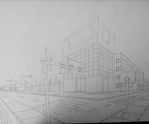 art, drawing, and perspective image