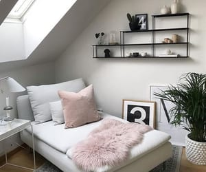 light, pink, and room image