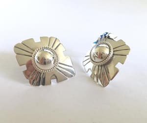 etsy, sterling silver, and statement earrings image
