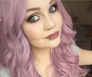 pinkhair, coloredhair, and rainbowhair image