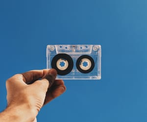 90's, blue, and music image