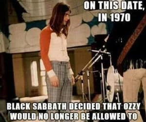 Black Sabbath, songwriters, and funny image