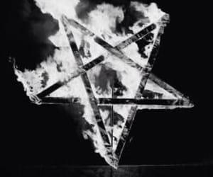 fire, pentagram, and satan image