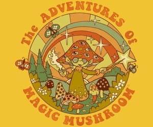 70s, magic mushrooms, and aesthetic image