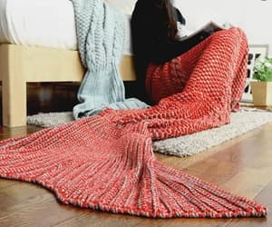 blankets, cozy, and mermaid tail blanket image