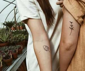 tattoo, couple, and plants image