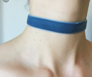 blue, choker, and pale image