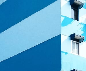 architecture, striped, and blue image